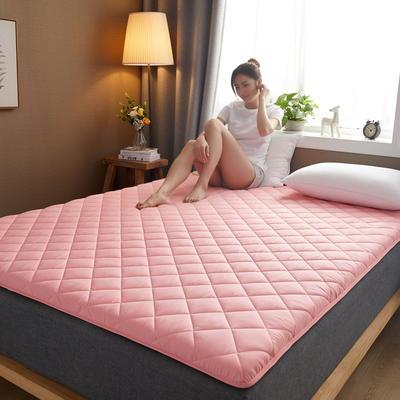 素色水洗棉防滑床垫 1.0m 玉色斜方格