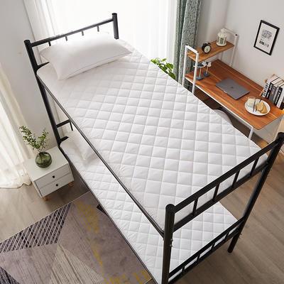 单人床水洗棉防滑床垫 1.0m 白色方格