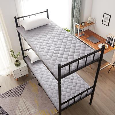 单人床水洗棉防滑床垫 1.0m 灰色方格