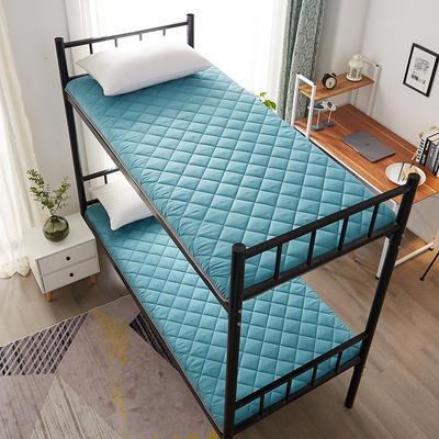 单人床水洗棉防滑床垫 1.0m 墨绿方格