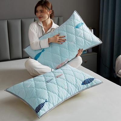 水洗棉防水夹棉枕套 48cmX74cm/只 海底世界