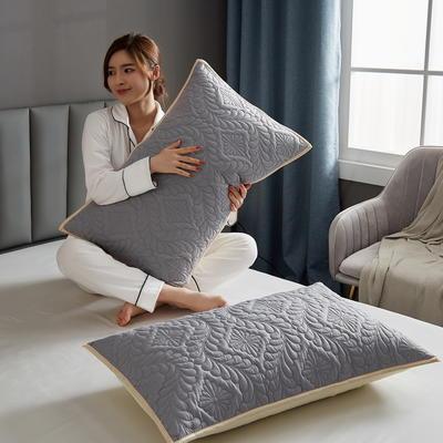 水洗棉防水夹棉枕套 48cmX74cm/只 灰色