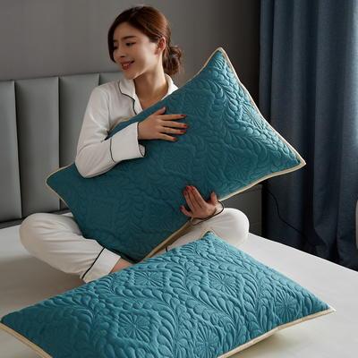 水洗棉防水夹棉枕套 48cmX74cm/只 墨绿