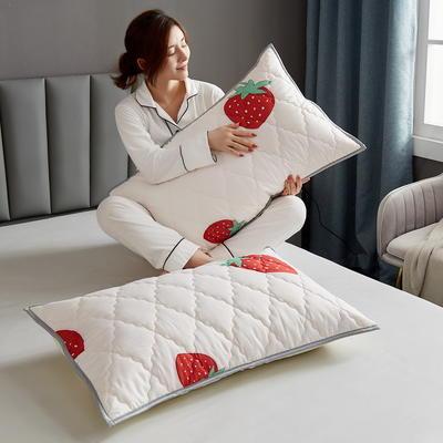水洗棉防水夹棉枕套 48cmX74cm/只 甜心草莓