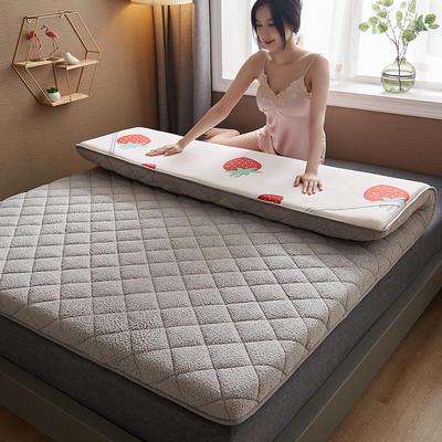 保暖舒适AB版双面用羊羔绒床垫 0.9*2.0m 羊羔绒-AB版两用灰色