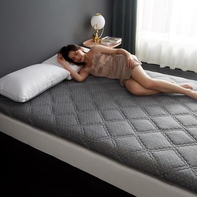 单边针织乳胶透气抗压床垫6-10厘米款 0.9*2 6厘米厚 富贵格-灰点)