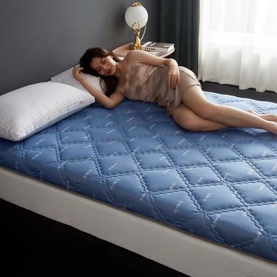 单边针织乳胶透气抗压床垫6-10厘米款 0.9*2 6厘米厚 富贵格-蓝箭头