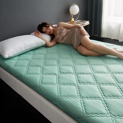 单边针织乳胶透气抗压床垫6-10厘米款 0.9*2 6厘米厚 富贵格-水绿