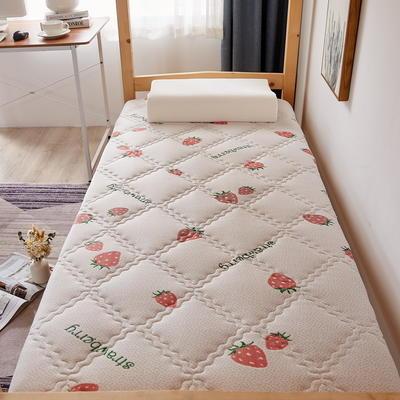 单人床针织乳胶透气单边床垫6-10厘米款 0.9*2.0m-厚度6cm 富贵格-草莓