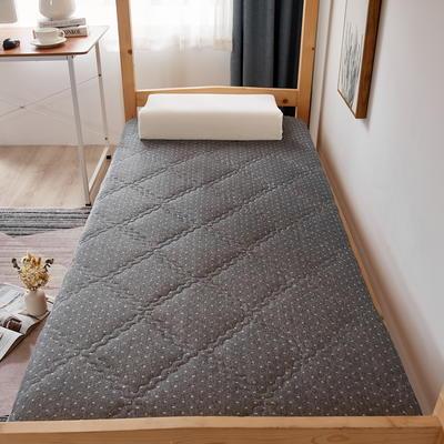 单人床针织乳胶透气单边床垫6-10厘米款 0.9*2.0m-厚度6cm 富贵格-灰点