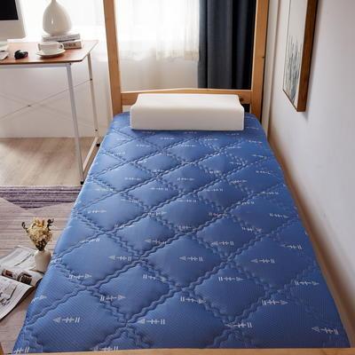 单人床针织乳胶透气单边床垫6-10厘米款 0.9*2.0m-厚度6cm 富贵格-蓝箭头