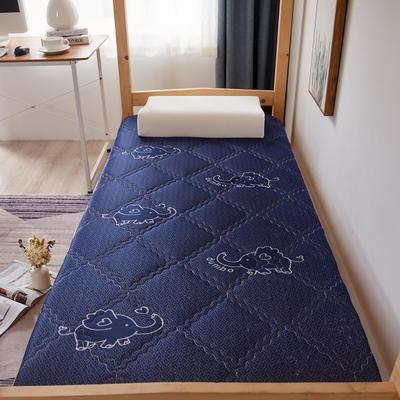 单人床针织乳胶透气单边床垫6-10厘米款 0.9*2.0m-厚度6cm 富贵格-蓝色小飞象