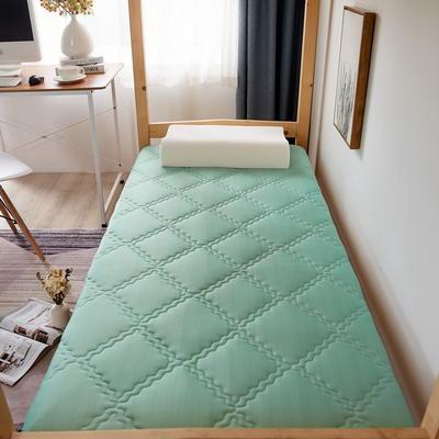单人床针织乳胶透气单边床垫6-10厘米款 0.9*2.0m-厚度6cm 富贵格-水绿