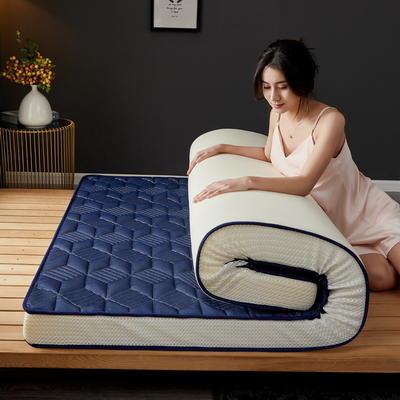 立体乳胶记忆棉床垫5-10公分 0.9*2 - 5cm 立体乳胶-3D菱形蓝