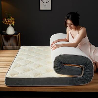立体乳胶记忆棉床垫5-10公分 0.9*2 - 5cm 立体乳胶-大曲格白玫瑰