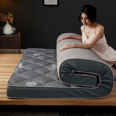 立体乳胶记忆棉床垫5-10公分 0.9*2 - 5cm 立体乳胶-大曲格-灰色椰子树