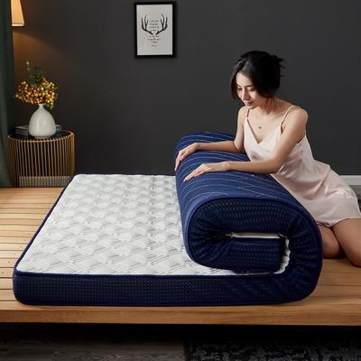 立体乳胶记忆棉床垫5-10公分 0.9*2 - 5cm 立体乳胶-竹节格白色