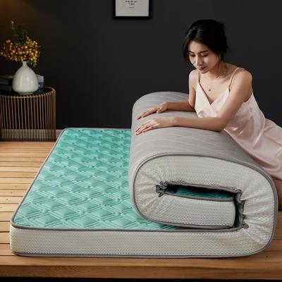 立体乳胶记忆棉床垫5-10公分 0.9*2 - 5cm 立体乳胶-竹节格水绿