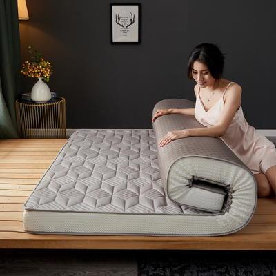 立体乳胶记忆棉床垫5-10公分 0.9*2 - 5cm 立体乳胶-3D菱形灰色