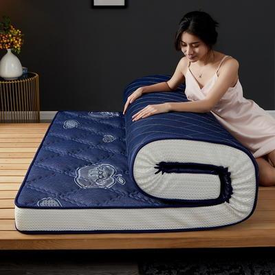 立体乳胶记忆棉床垫5-10公分 0.9*2 - 5cm 立体乳胶-大曲格蓝苹果