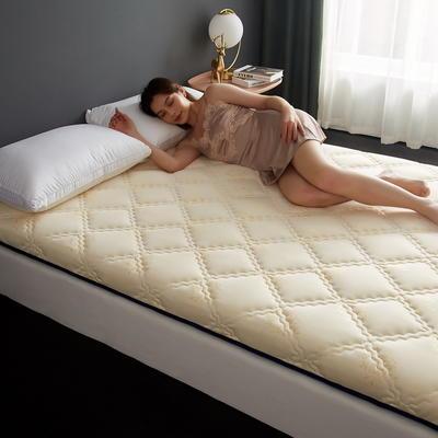 单边针织乳胶透气抗压床垫6-10厘米款 0.9*2 6厘米厚 富贵格-白兰