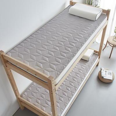 单人床立体乳胶记忆棉床垫5-10厘米2款 0.9*2.0m-厚度5cm 立体乳胶-3D菱形灰色