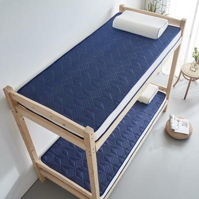 单人床立体乳胶记忆棉床垫5-10厘米2款 0.9*2.0m-厚度5cm 立体乳胶-3D菱形蓝