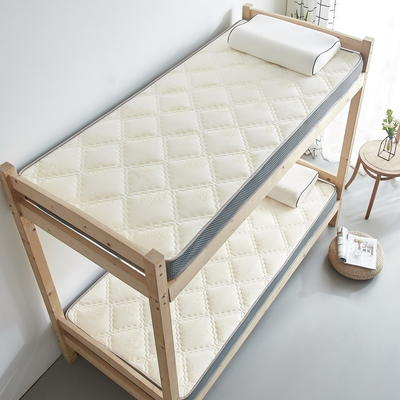 单人床立体乳胶记忆棉床垫5-10厘米2款 0.9*2.0m-厚度5cm 立体乳胶-大曲格白玫瑰
