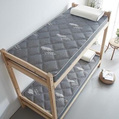 单人床立体乳胶记忆棉床垫5-10厘米2款 0.9*2.0m-厚度5cm 立体乳胶-大曲格-灰色椰子树
