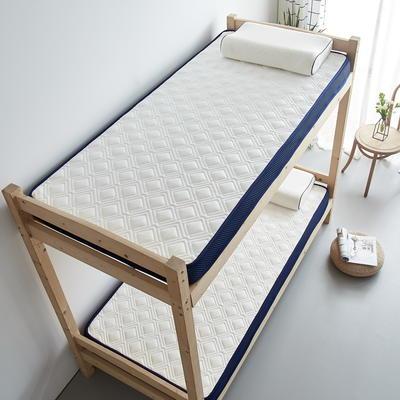 单人床立体乳胶记忆棉床垫5-10厘米2款 0.9*2.0m-厚度5cm 立体乳胶-竹节格白色
