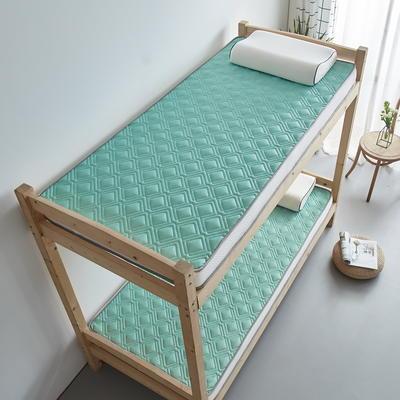 单人床立体乳胶记忆棉床垫5-10厘米2款 0.9*2.0m-厚度5cm 立体乳胶-竹节格水绿