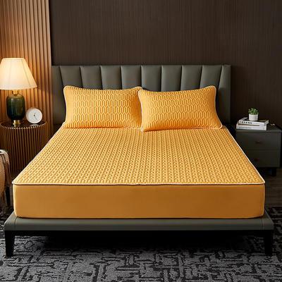 2021新款凉感冰丝乳胶床笠三件套 1.2m2件套 床笠款 富贵金