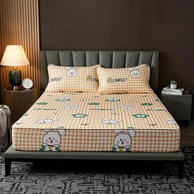 2021新款凉感冰丝乳胶床笠三件套 1.2m2件套 床笠款 兔子花
