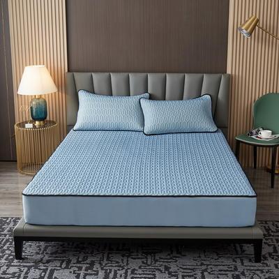 2021新款凉感冰丝乳胶床笠三件套 1.2m2件套 银灰色