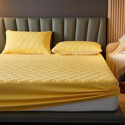 水洗棉防水夹棉床笠 180cmx200cm 富贵金色
