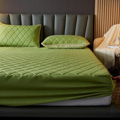 水洗棉防水夹棉床笠 180cmx200cm 军绿色