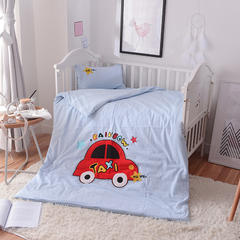 2018新款-水洗棉贴布绣三件套 1.2m(4英尺)床 小汽车