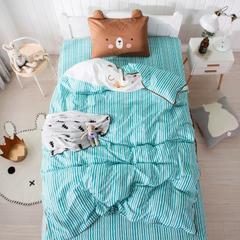 2018新款-条纹熊系列三件套 1.2m(4英尺)床 条纹熊-绿