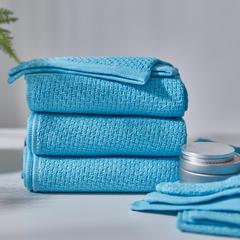 精梳棉子母纱毛浴巾-千丝万缕(34*74cm) 千丝万缕天真蓝