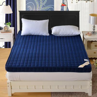 记忆棉床垫-宝蓝色(6.5cm) 0.9*2.0米 宝石蓝