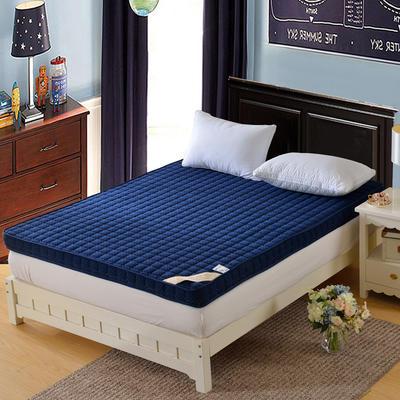 记忆棉床垫-宝蓝色(10cm) 0.9*2.0米 宝石蓝