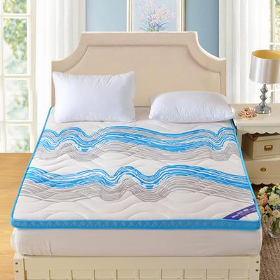 记忆棉床垫-蓝色海洋(6.5CM ) 0.9*2.0米 蓝色海洋