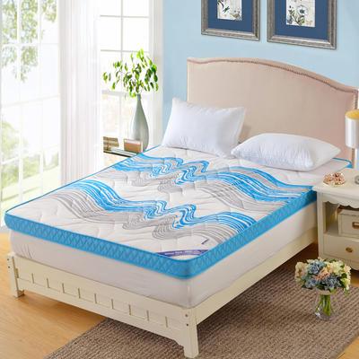 记忆棉床垫-蓝色海洋(10CM ) 0.9*2.0米 蓝色海洋