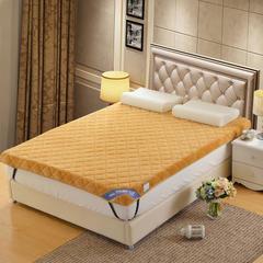 记忆棉床垫-立体贝贝绒(10cm) 1.5*2.0米 驼色