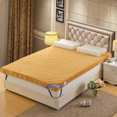 记忆棉床垫-立体贝贝绒(10cm) 1.8*2.0米 驼色