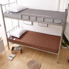 2018爆款学生宿舍床垫(薄款) 1.2*2 4D咖啡色