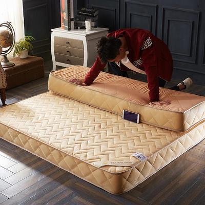 2019新款-钻爱记忆棉床垫10cm 1.8*2.0cm 驼色