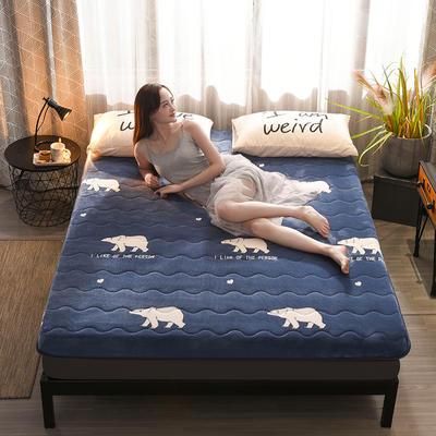 2019新款-牛奶绒终版床垫(10cm) 0.9*2 北极熊