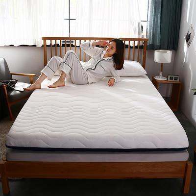 2019年新品-爆款单边乳胶透气床垫(四季通用)6.5cm 0.9*2.0 单边-银白
