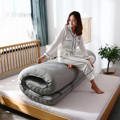 2019年新品-爆款单边乳胶透气床垫(四季通用)10cm 0.9*2.0 单边-银灰